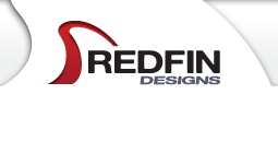 redfin designs logo for graphic designer & web designer located in Pacific Beach, California 92109.